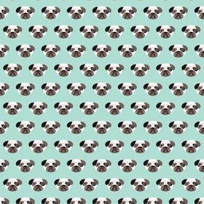 Pug the blue puppy illustration kids pattern XS