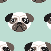 Pug the blue puppy illustration kids pattern