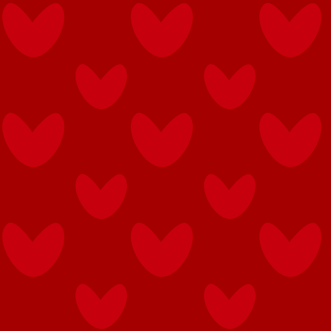 valentine_red_red fabric by bruxamagica on Spoonflower - custom fabric