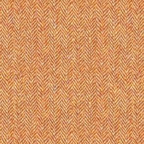 faux tweedy burnt orange herringbone tweed