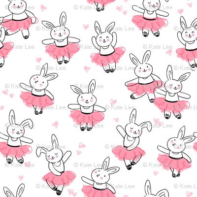 ballet bunnies_peach