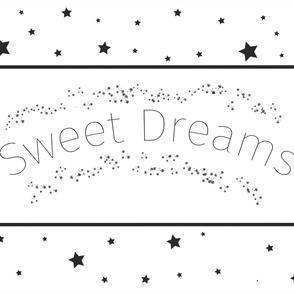 Sweet Dreams Baby Blanket White - Black and White Blanket - Stars