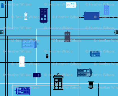 Police Box Silhouettes