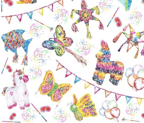 Pinata party Birthday Celebration fabric by heckadoodledo on Spoonflower - custom fabric