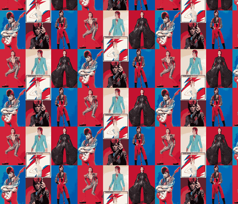 David Bowie 1 fabric by phatcatpatch on Spoonflower - custom fabric