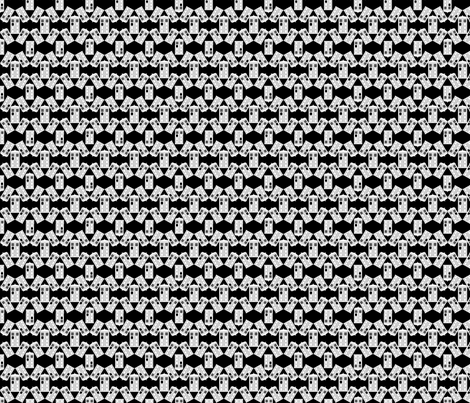 Police Box Scatter in Black and White fabric by geekygamergirl on Spoonflower - custom fabric