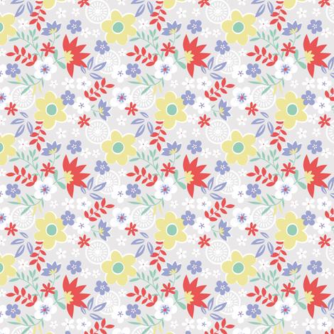 SPRING MEADOW fabric by minkypnoo on Spoonflower - custom fabric