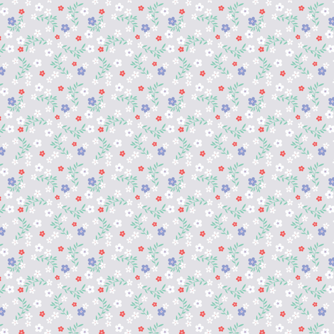 LITTLE GREY DITSY fabric by minkypnoo on Spoonflower - custom fabric