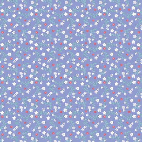 LITTLE DENIM DITSY fabric by minkypnoo on Spoonflower - custom fabric