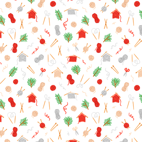 Cozy knitting pattern fabric by stolenpencil on Spoonflower - custom fabric