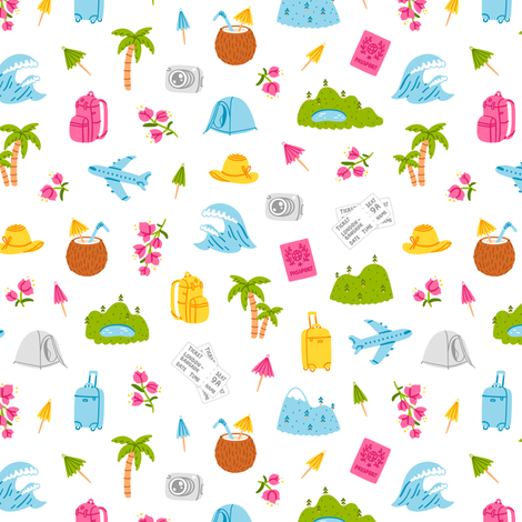 Go on and travel pattern fabric by stolenpencil on Spoonflower - custom fabric