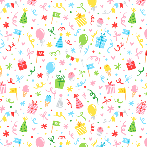 Party fun fabric by stolenpencil on Spoonflower - custom fabric