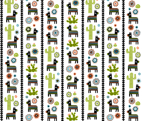 El burro feliz fabric by chris_jorge on Spoonflower - custom fabric
