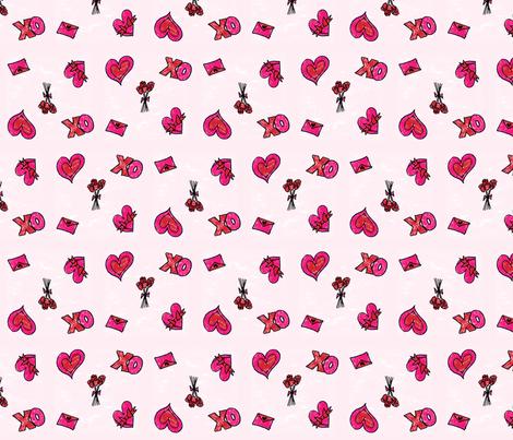 Valentine's Day fabric by eileenmckenna on Spoonflower - custom fabric