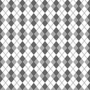 1:6 Scale Greyscale Argyle 2