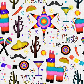 Mexican Fiesta Fabric Wallpaper Gift Wrap Spoonflower