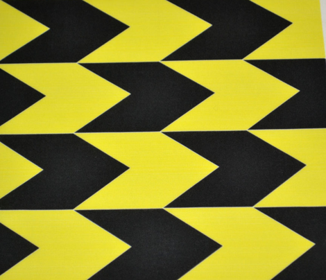 Black and Yellow Chevron Stripes