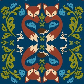 Ornate Fox Teal