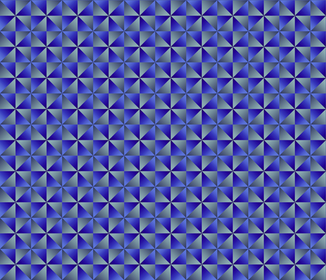 Dean's Pinwheels in Blue and Silver fabric by midcoast_miscellany on Spoonflower - custom fabric