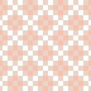 Quilt Cloth - Modern Granny Square Pink + White