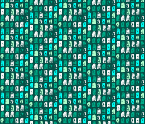 Painted Turquoise Mosiac  fabric by onelittleprintshop on Spoonflower - custom fabric