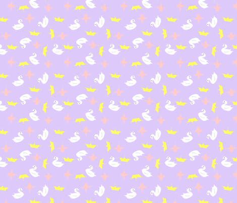 Royal Swans fabric by thefoxylady on Spoonflower - custom fabric