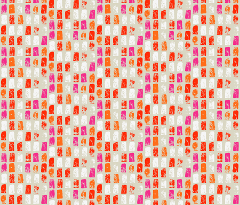 Painted Bright Mosaic  fabric by onelittleprintshop on Spoonflower - custom fabric