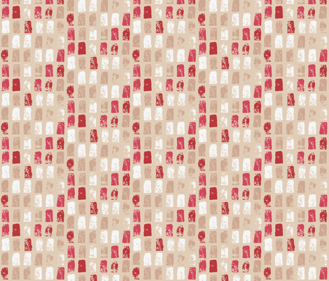 Painted Neutral Mosaic  fabric by onelittleprintshop on Spoonflower - custom fabric