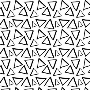 Triangles on white