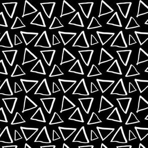 Triangles on black