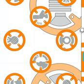 Orange Robot Large Repeat