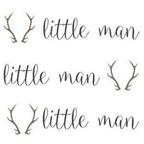 Little Man Grey Handwritten Letter
