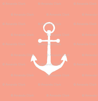 anchors-Coral/White-Small Scale