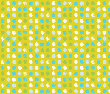 Painted Stamp Bright fabric by onelittleprintshop on Spoonflower - custom fabric