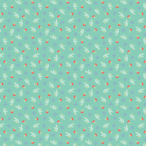 SPRIGS AND LEAVES fabric by minkypnoo on Spoonflower - custom fabric