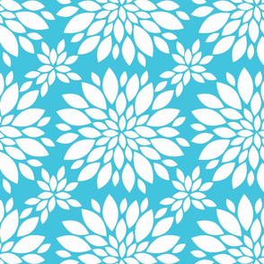 Flower-Petals-Silhouette-turquoise