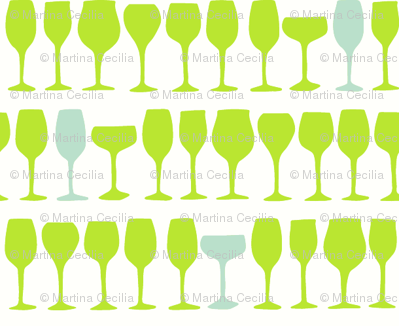 Wine glasses - colorway 01