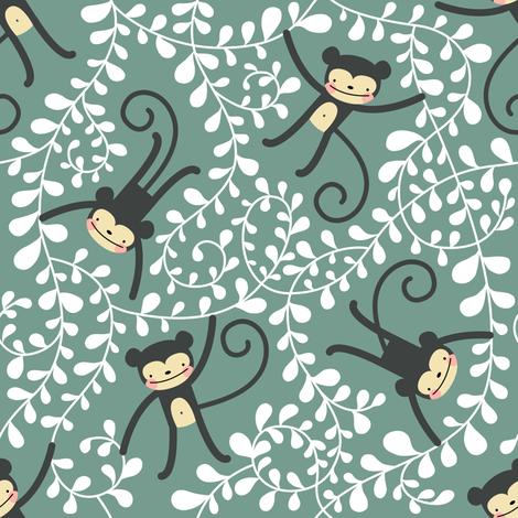 monkey club fabric by mirabelleprint on Spoonflower - custom fabric