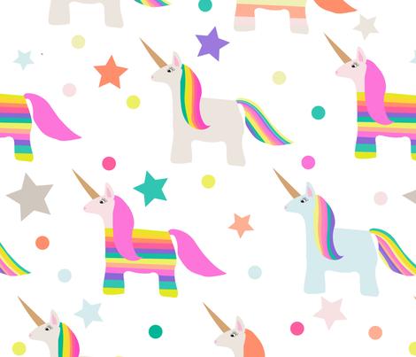 Unicorn Pinatas fabric by vieiragirl on Spoonflower - custom fabric