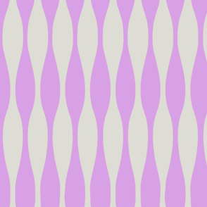 Wavy Purple & Gray Stripe Pattern
