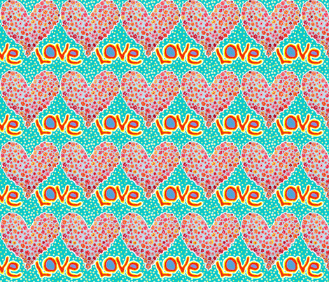 And love takes over! fabric by heartyflower on Spoonflower - custom fabric
