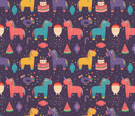Pinatas_party fabric by la_fabriken on Spoonflower - custom fabric