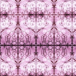 Gothic Fence in Purple & Pink