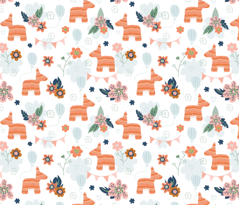 Pinata Partay fabric by clairekalinadesigns on Spoonflower - custom fabric