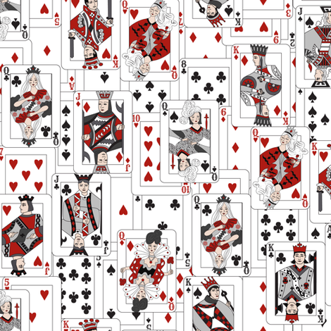 The Whole Deck in B&W fabric by angelastevens on Spoonflower - custom fabric