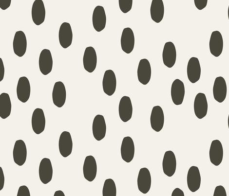 Charcoal Dots On Ivory fabric by mrshervi on Spoonflower - custom fabric