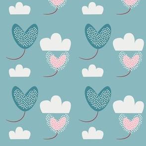 flying balloon hearts