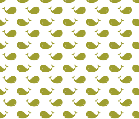 Lime_Whales fabric by googoodoll on Spoonflower - custom fabric