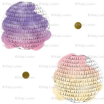 Polka Dot Pinatas with Gold Accents