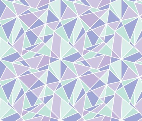 Geo Lines - Iceberg fabric by tarynosaurus on Spoonflower - custom fabric